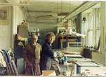 Photograph: John Taylor in the Workshop