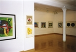 Photograph: Glasgow Print Studio gallery during the exhibition 'Monotypes' (1998)