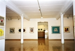 Photograph: Several prints from the exhibition 'Monotypes' in Glasgow Print Studio gallery (1998)