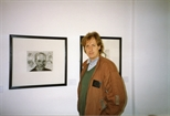 Photograph: Peter Howson in the Gallery