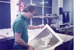 Photograph: Malcolm Humble in the Workshop