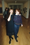 Photograph: 2 unknown women at the exhibition 'John Taylor - New Work' in the Glasgow Print Studio Gallery (1991)