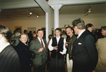 Photograph: Various people at the opening of John Taylor's exhibition 'New Work' in Glasgow Print Studio Gallery (1991)