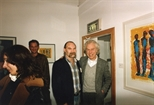 Photograph: John Taylor and Peter McDougall at the opening of the exhibition 'John Taylor - New Work' (1991)