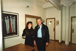 Photograph: Douglas Thomson at the opening of the exhibition 'John Taylor - New Work' (1991)