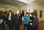 Photograph: John MacKechnie at the opening of the exhibition 'John Taylor - New Work' (1991)