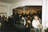 Photograph: The opening of John Taylor's exhibition 'New Work' in Glasgow Print Studio Gallery (1991)