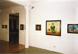 Photograph: Several paintings by Neil MacPherson in Glasgow Print Studio Gallery as part of the exhibition 'Neil MacPherson - Paintings' (1998)