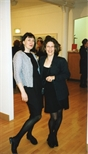 Photograph: Sue MacKechnie and Ray Richardson's wife at the opening of the exhibition by Ray Richardson 'Paintings and Prints' (1998)