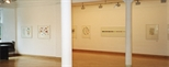 Photograph: Several lithographs from the exhibition 'Robert Paul - Reflexology' in the Glasgow Print Studio Gallery (1999)