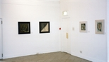 Photograph: 4 paintings by James McDonald from his exhibition 'Paintings' in Glasgow Print Studio Gallery (1998)