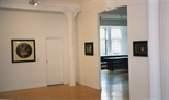 Photograph: 3 paintings by James McDonald from his exhibition 'Paintings' in Glasgow Print Studio Gallery (1998)