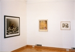 Photograph: 3 works from the exhibition 'The Drawing Show' in Glasgow Print Studio Gallery (1998)
