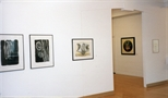 Photograph: Several works from the exhibition 'The Drawing Show' in Glasgow Print Studio Gallery (1998)