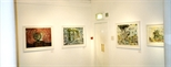 Photograph: 4 prints by Ral Veroni from his exhibition 'Ral Veroni - Orpheus' Little Journey' in Glasgow Print Studio Gallery (1999)
