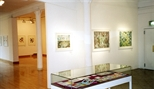 Photograph: Glasgow Print Studio Gallery during the exhibition 'Ral Veroni - Orpheus' Little Journey' and 'Robert Paul - Reflexology' (1999)
