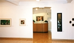 Photograph: Both exhibitions 'Ray Richardson - Paintings and Prints' and 'Mark Hampson - Prints' in Glasgow Print Studio Gallery (1998)