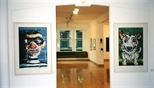 Photograph: Both exhibition 'Ray Richardson - Paintings and Prints' and 'Mark Hampson - Prints' in Glasgow Print Studio Gallery (1998)