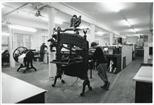 Photograph: Columbian Eagle Press in the Glasgow Print Studio Workshop