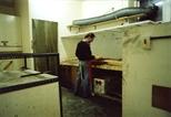 Photograph: Stuart Duffin working at the acid baths in the Glasgow Print Studio workshop (around 1990)