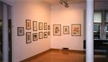 Photograph: Glasgow Print Studio during the exhibition 'Elizabeth Blackadder - Printmaker' (1998)