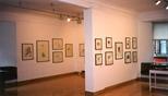 Photograph: Various prints from the exhibition 'Elizabeth Blackadder - Printmaker' in Glasgow Print Studio Gallery (1998)