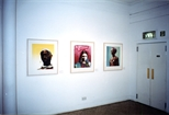 Photograph: 3 prints by Will Maw from his exhibition 'Will Maw - Modern Dreams' in Glasgow Print Studio Gallery (1999)