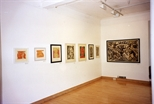 Photograph: Various prints from the exhibition 'Janka Malkowska - 1912-1997' in Glasgow Print Studio Gallery (2000)