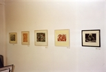 Photograph: 5 prints from the exhibition 'Janka Malkowska - 1912 -1997' in Glasgow Print Studio Gallery (2000)