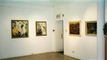 Photograph: Various paintings from the exhibition 'Louise Annand - Paintings' (20010