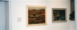 Photograph: 2 paintings from the exhibition 'Louise Annand - Paintings' in Glasgow Print Studio Gallery (2001)