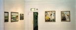 Photograph: Several paintings from the exhibition 'Louise Annand - Paintings' in Glasgow Print Studio Gallery (2001)
