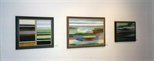 Photograph: 3 paintings from the exhibition 'Louise Annand - Paintings' in Glasgow Print Studio Gallery (2001)