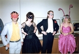 Photograph: Group of Masked Guests at The Loveliest Night of the Year