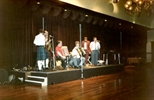 Photograph: Ceilidh band on stage