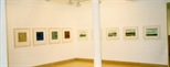 Photograph: 9 prints from the exhibition 'Black Pool - The Graphic Studio, Dublin' in Glasgow Print Studio Gallery (2001)