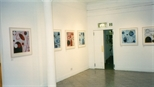 Photograph: Various prints from the exhibition 'Hetty Haxworth - Forms and Colour' in Glasgow Print Studio Gallery (2001)