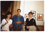 Photograph: Mariko Go and 2 unknown people at the opening of 'Alive of Printing' in Kelvingrove Art Gallery and Museum (2002)