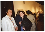 Photograph: Dave Watson and Ruth Greer at the opening of 'Alive of Printing' in Kelvingrove Art Gallery and Museum (2002)