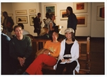 Photograph: Norman Mathieson and 2 unknown people at the opening of 'Alive of Printing' in Kelvingrove Art Gallery and Museum (2002)
