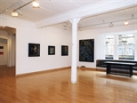 Photograph: 4 paintings from the exhibition 'James McDonald - Reflections' in Glasgow Print Studio Gallery (2002)