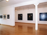 Photograph: Various paintings from the exhibition 'James McDonald - Reflections' in Glasgow Print Studio Gallery (2002)