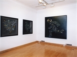 Photograph: 3 paintings from the exhibition 'James McDonald - Reflections' in Glasgow Print Studio Gallery (2002)