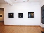 Photograph: Several paintings from the 'James McDonald - Reflections' exhibition in Glasgow Print Studio Gallery (2002)