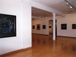 Photograph: Both the 'James McDonald - Reflections' and 'Scott Campbell - Colourworks' exhibitions at Glasgow Print Studio Gallery (2002)