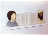Photograph: The sculpture 'What is History?' by Kenny Hunter in Glasgow Print Studio Gallery (2000)
