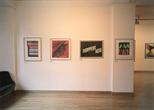 Photograph: 4 prints from the exhibition 'CEL Scotland - Contemporary Editions Limited' in Glasgow Print Studio