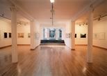 Photograph: A wide shot of Glasgow Print Studio Gallery during the exhibition 'CEL Scotland - Contemporary Editions Limited' (2005)