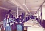 Photograph: Screenprinters in Ingram Street workshop