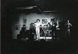 Photograph: Band playing in Glasgow Print Studio Gallery